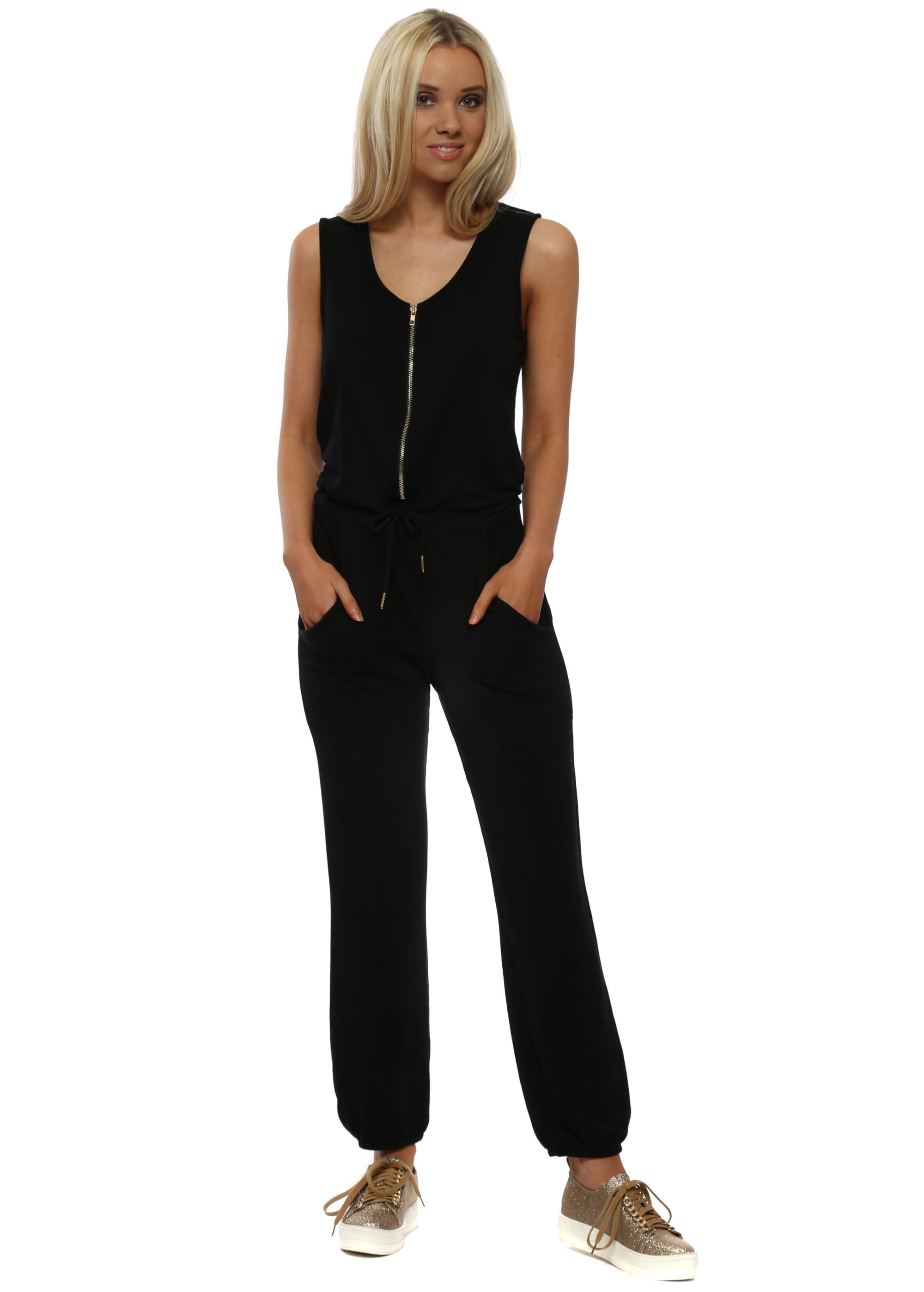 4c0a3a14e80 A Postcard From Brighton Black Sleeveless Jumpsuit