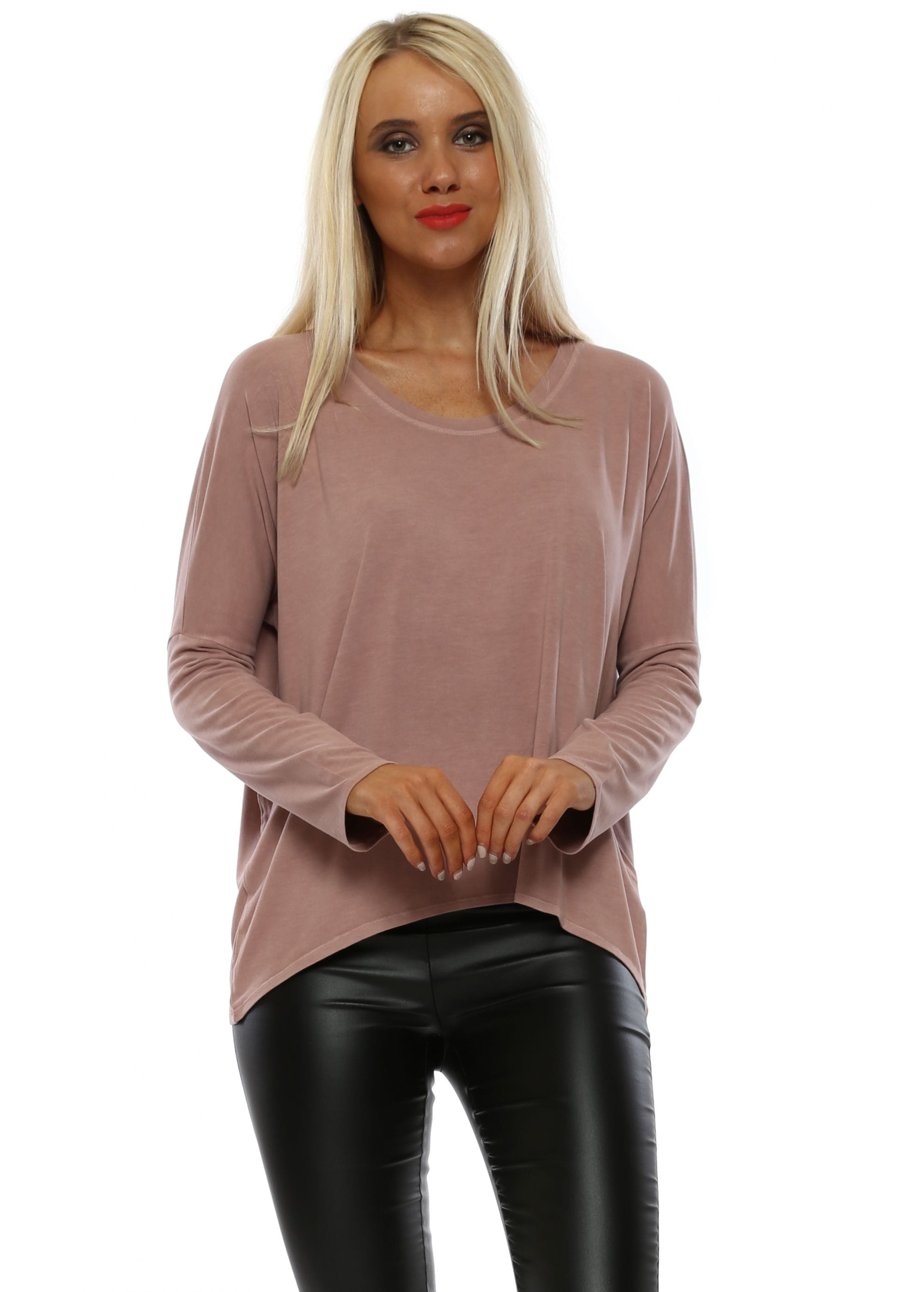 04f1b0fd6651 A Postcard From Brighton - Pink Karma Oversized Long Sleeved Top