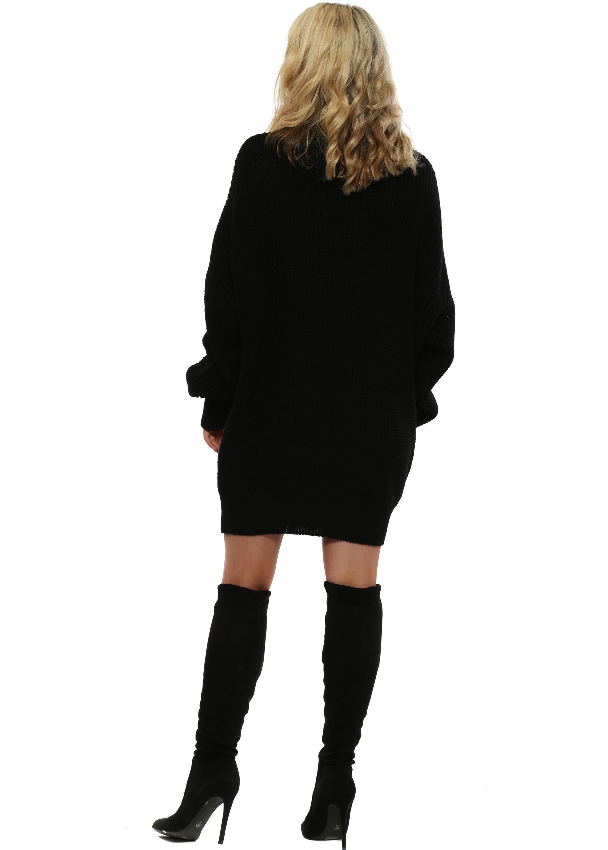 ad4ef2e2cf5 Made In Italy Black Oversized Cowl Neck Jumper