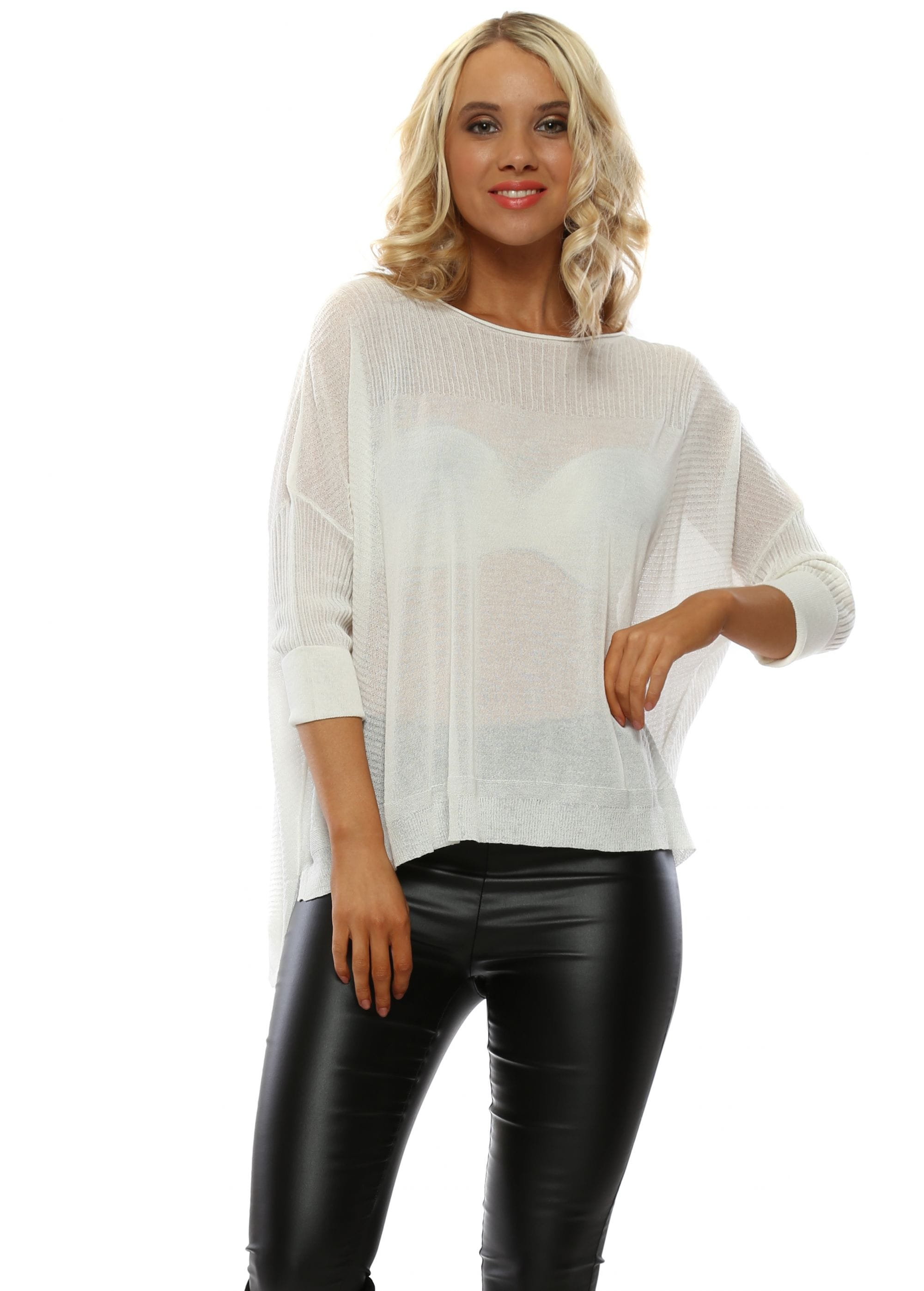 bd9aa853a71028 White Jumper | Women's White Jumper | Designer Desirables