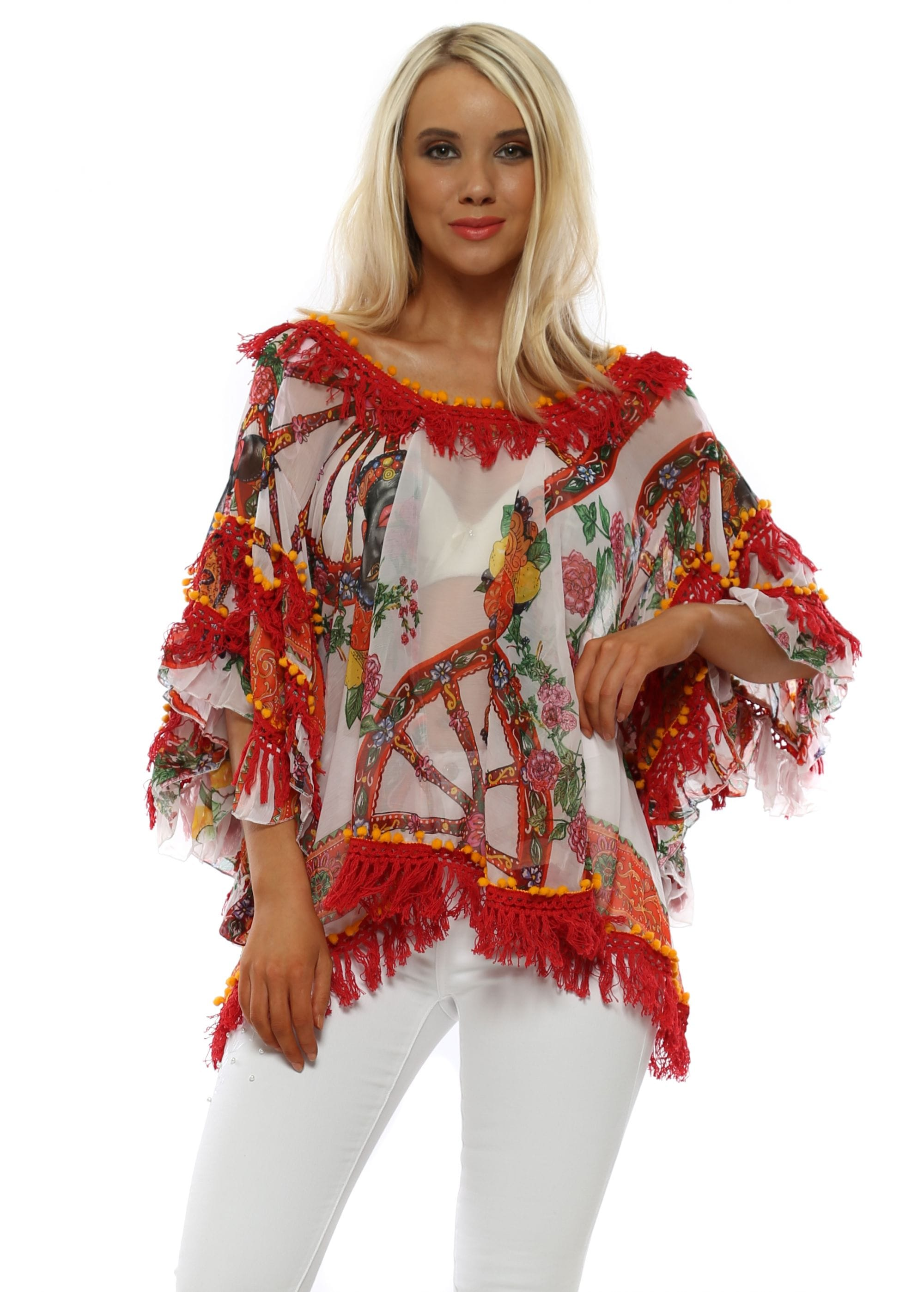 36e91be81d Antica Sartoria   Beach Top   Red Tassel Top   Designer Desirables