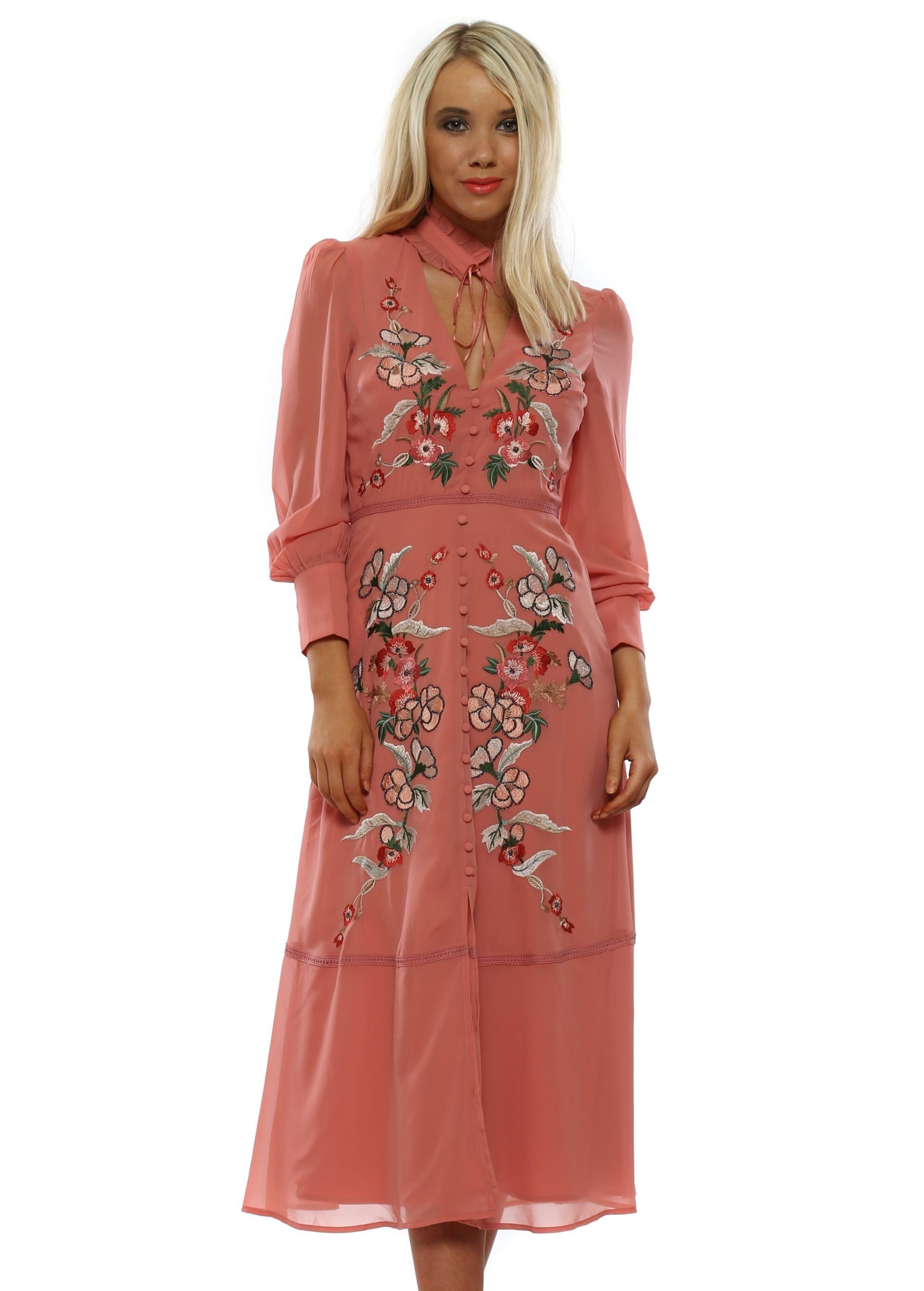 9dea4a53d2be Hope & Ivy Dress   Coral Floral Skater Dress   Designer Desirables