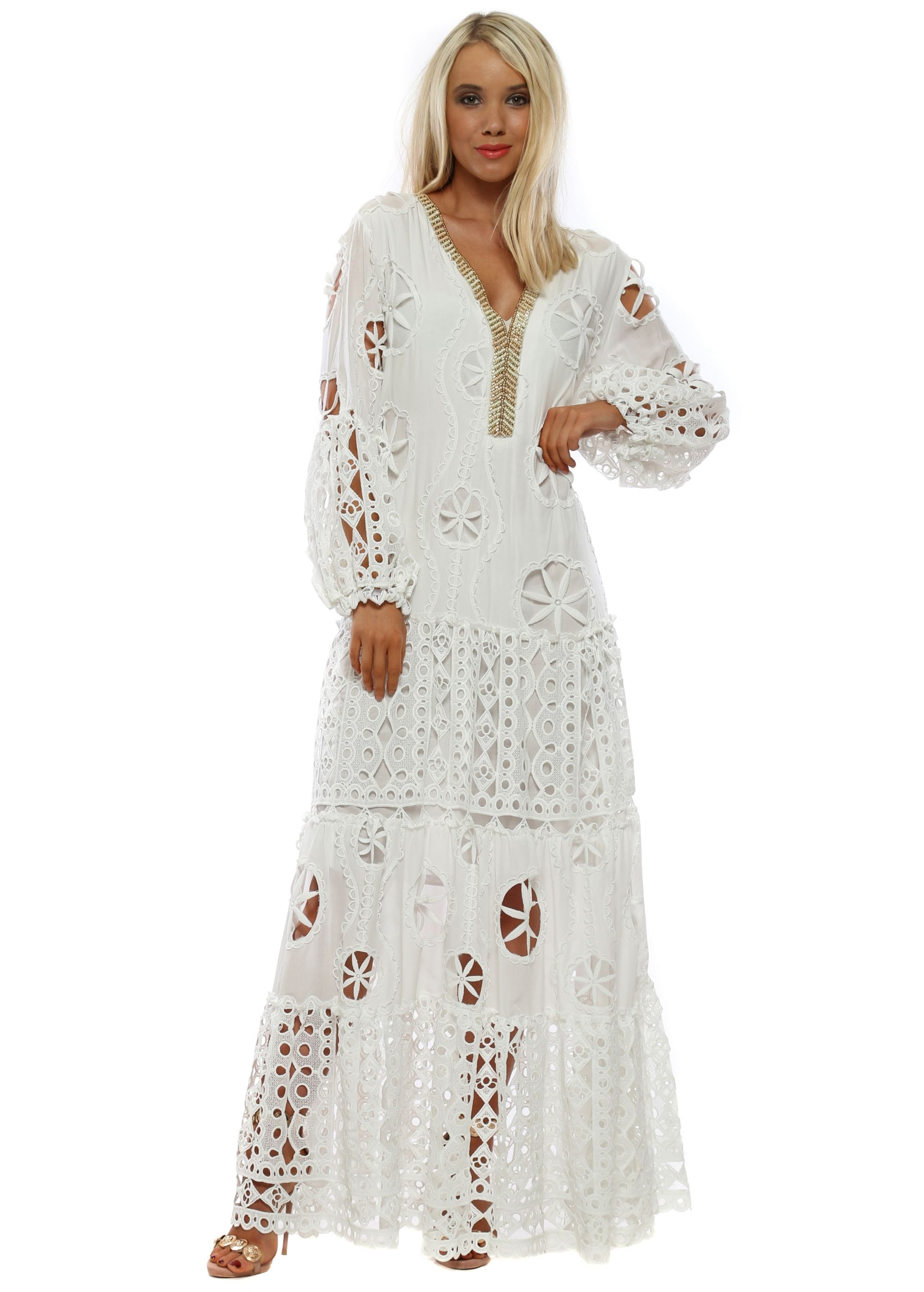 b1be346f0885 Laurie & Joe White Dress | White Maxi Dress |Designer Desirables