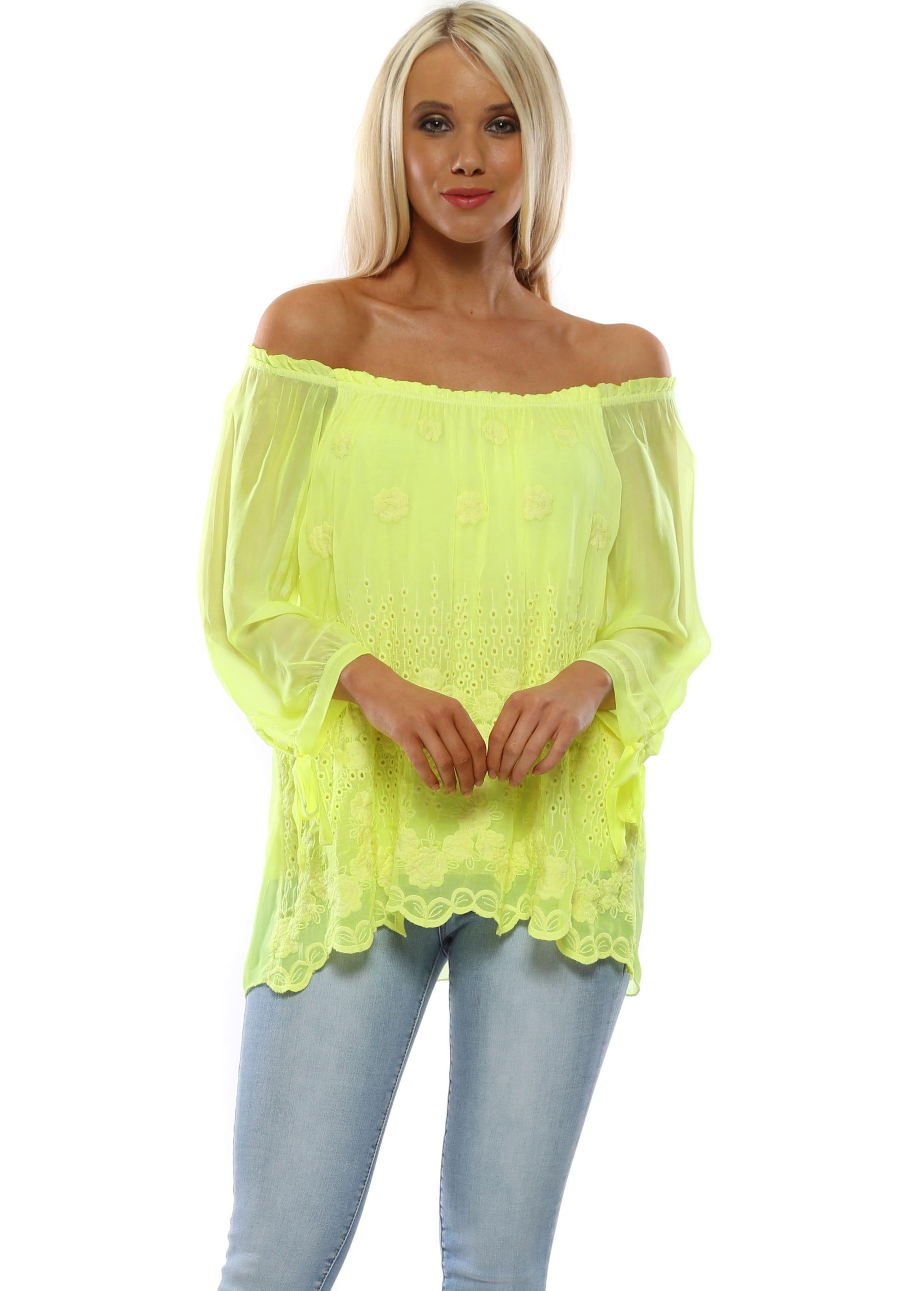 bd3f6ecdca3390 Made In Italy Top   Neon Yellow Top   Designer Desirables