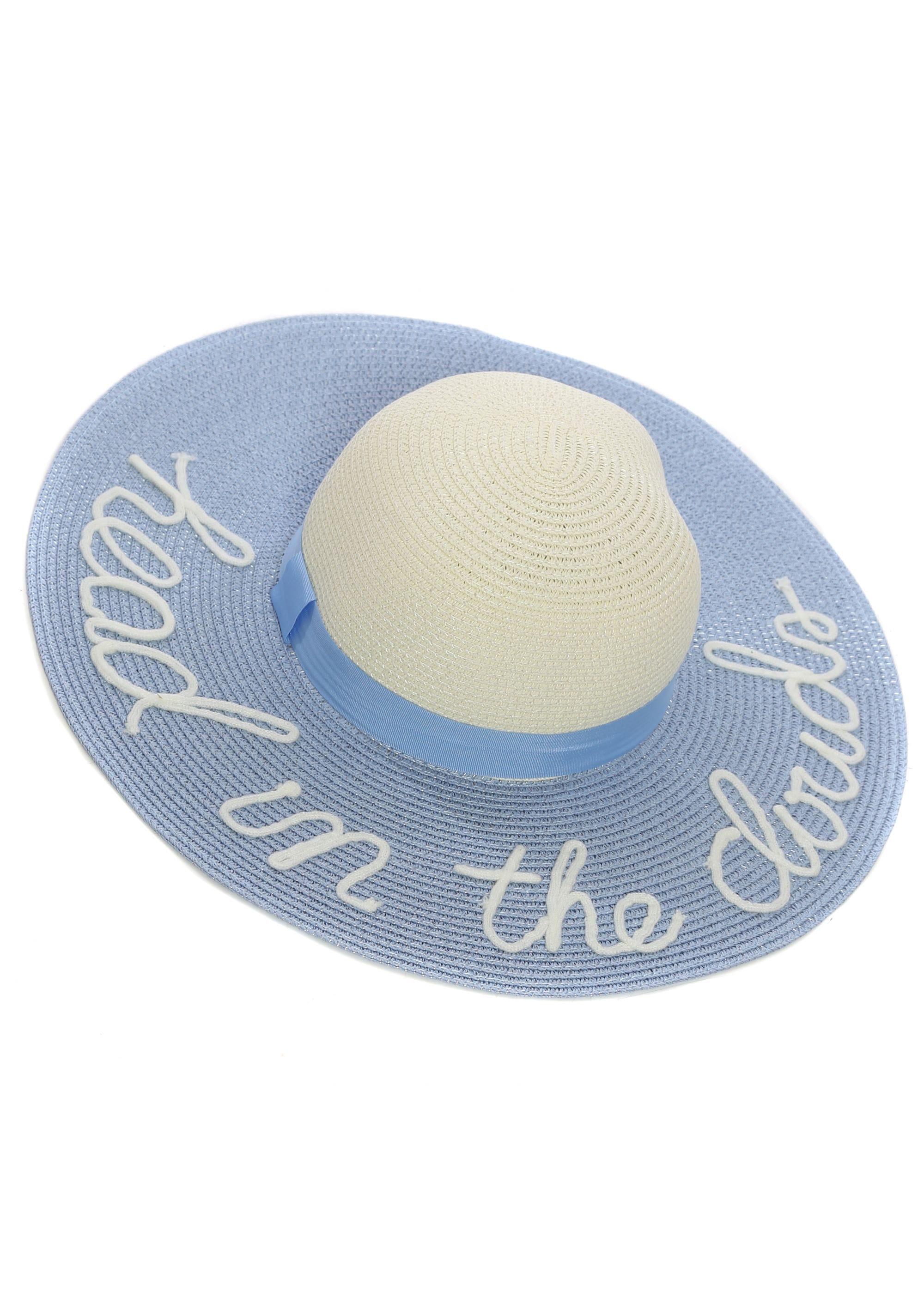 9758f469 Blue Straw Hat | Blue Floppy Hats | Blue Beach Hat | Designer Desirables