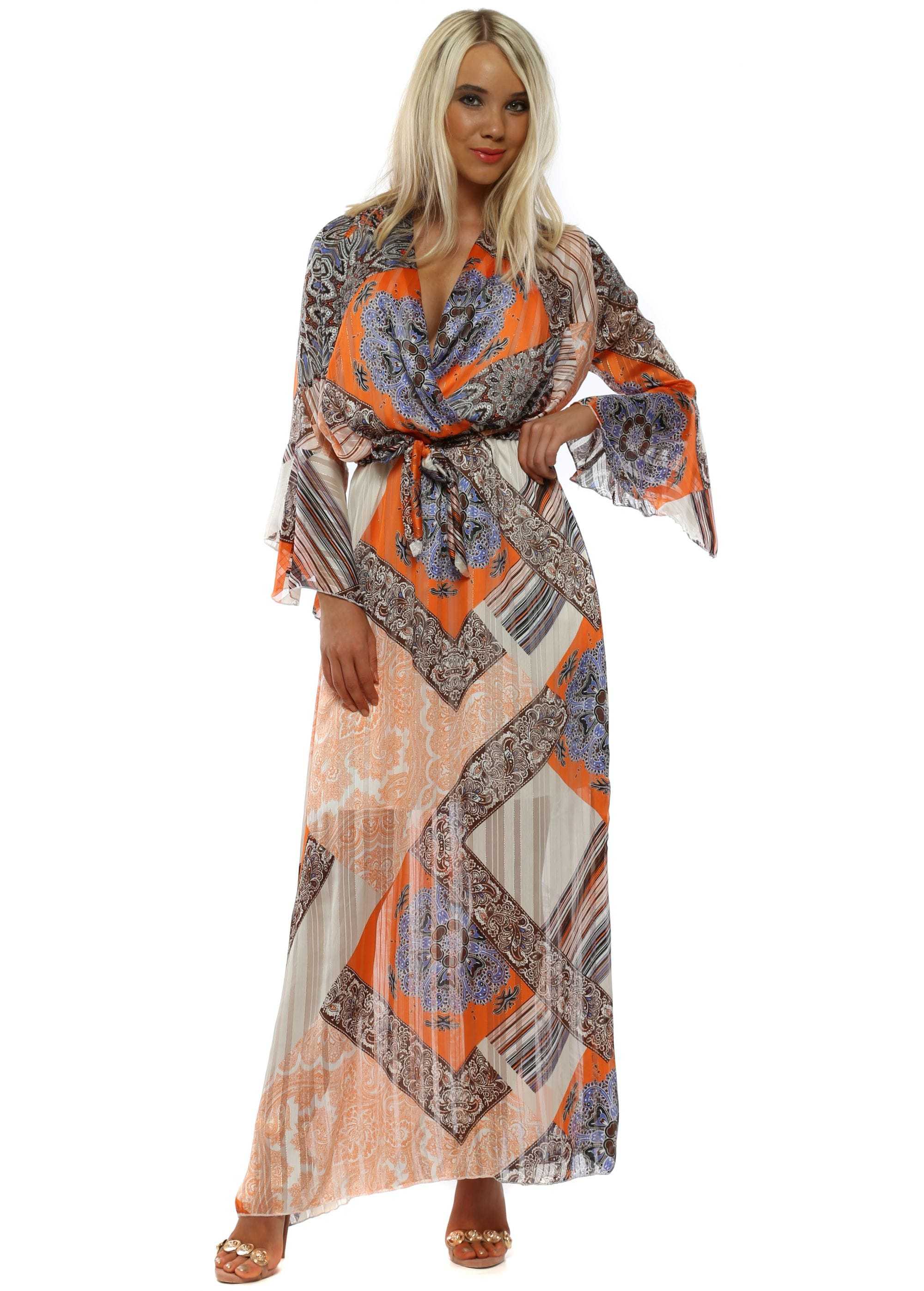 67c7b9133c60 Chiffon Maxi Dress | Long Sleeve Maxi Dress | Wedding Guest Maxi Dress