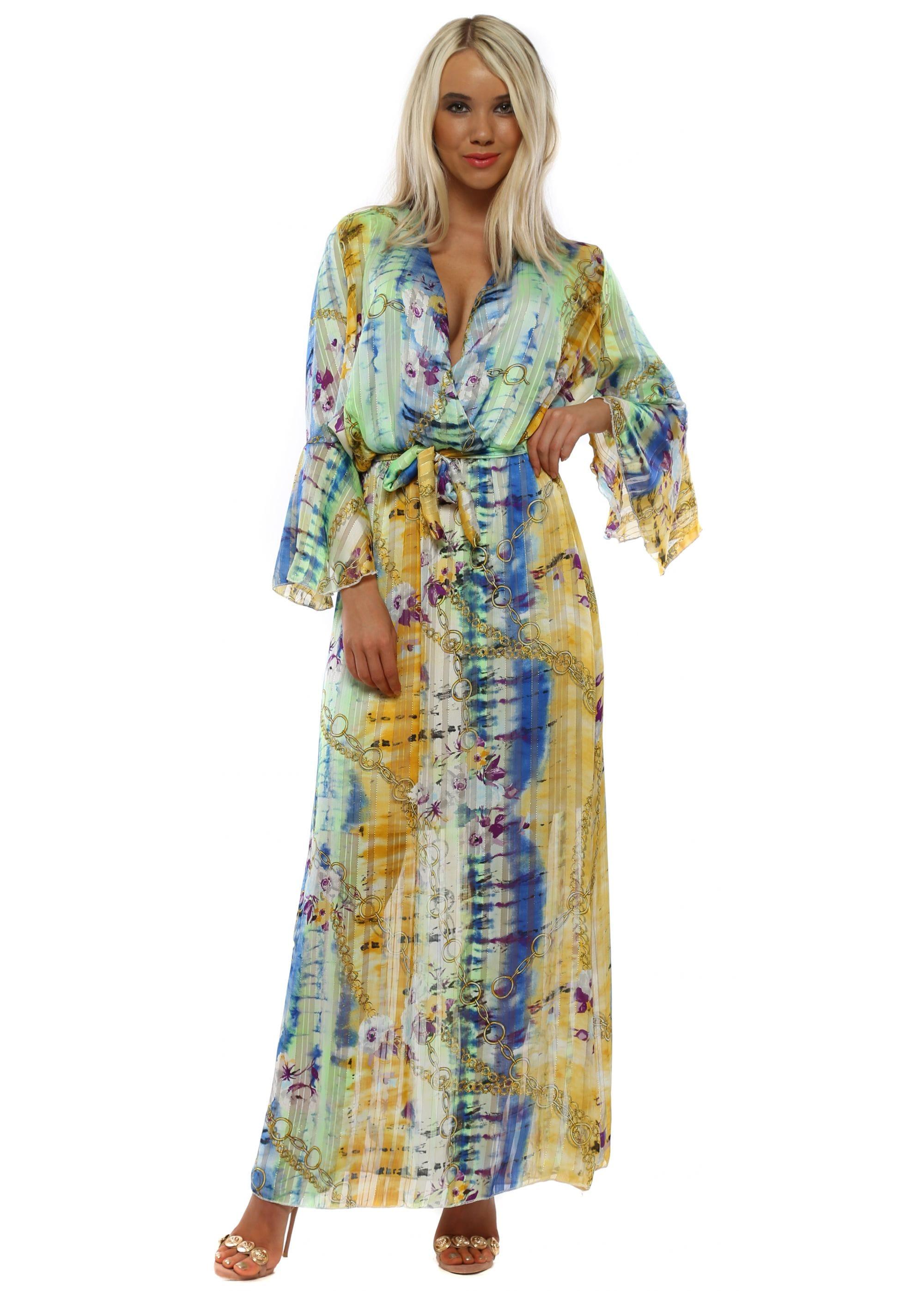 Yellow Chiffon Maxi Dress