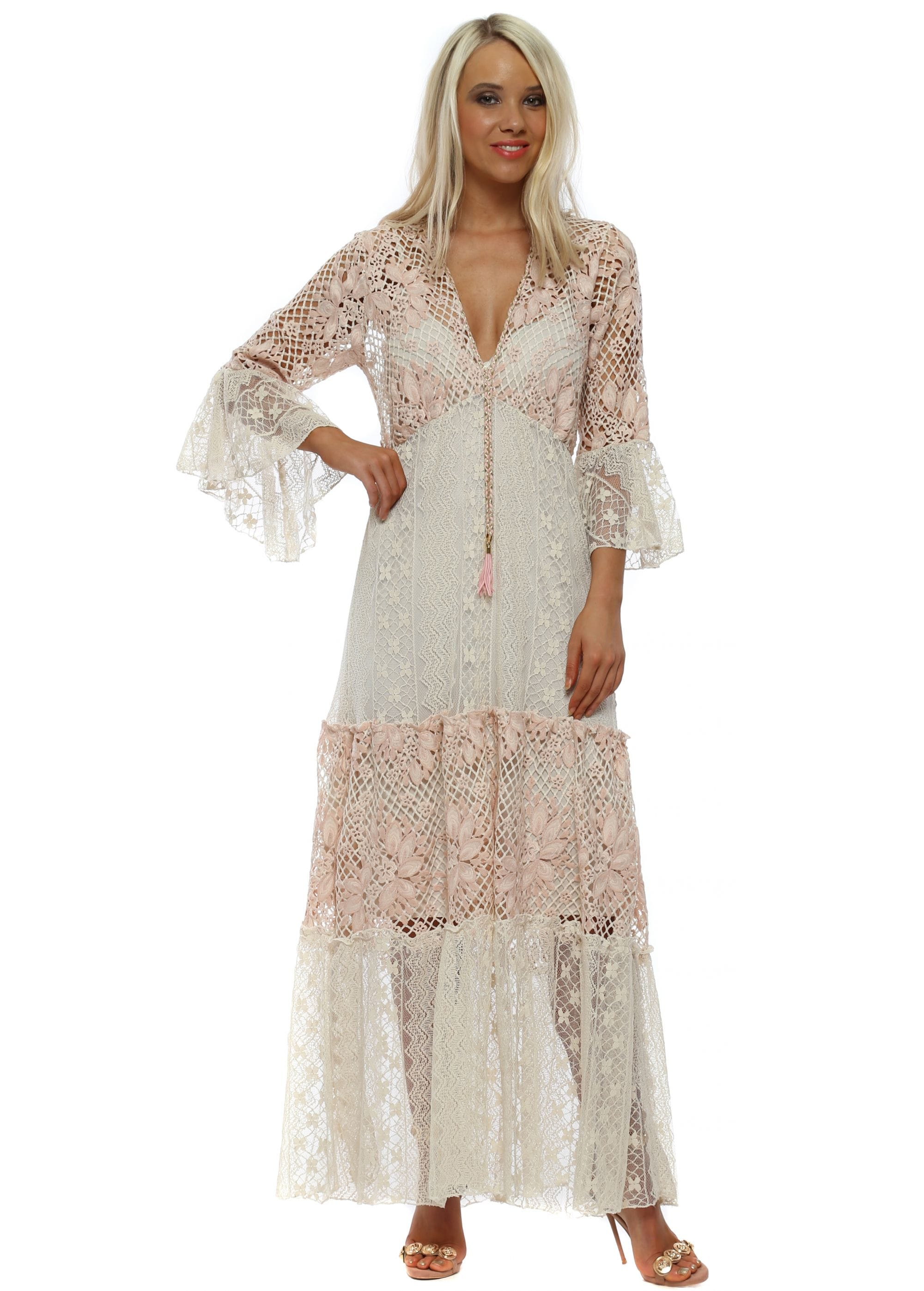a9149fe575dd My Story Maxi Dress | My Story Pink Lace Dress | Designer Desirables