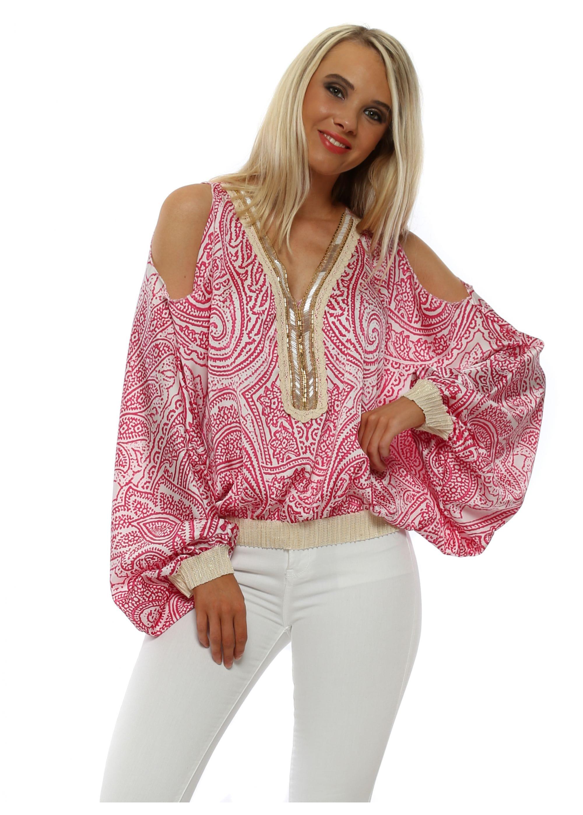 1377fc6e146 Port Boutique Pink Top | Cold Shoulder Top | Designer Desirables
