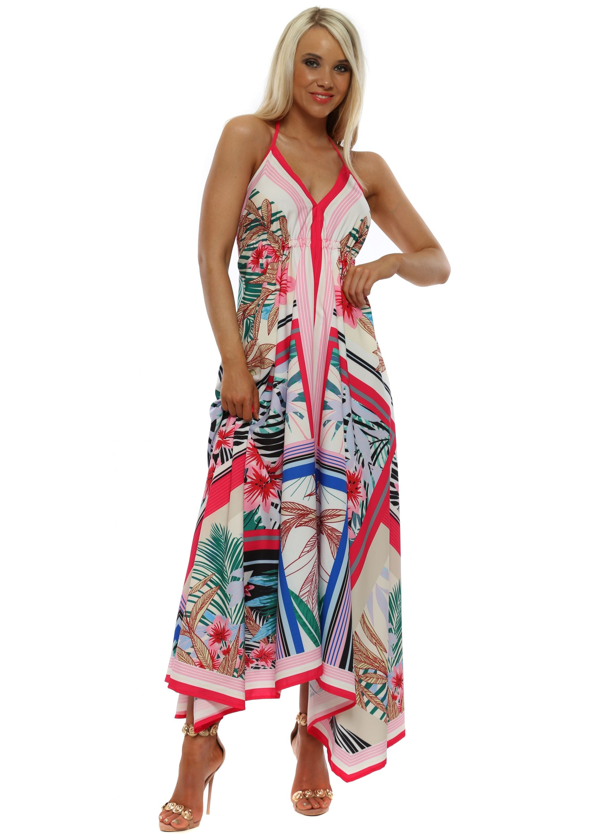4c361d98b97f9 Pink Floral Maxi Dress | Backless Maxi Dresses | Designer Desirables