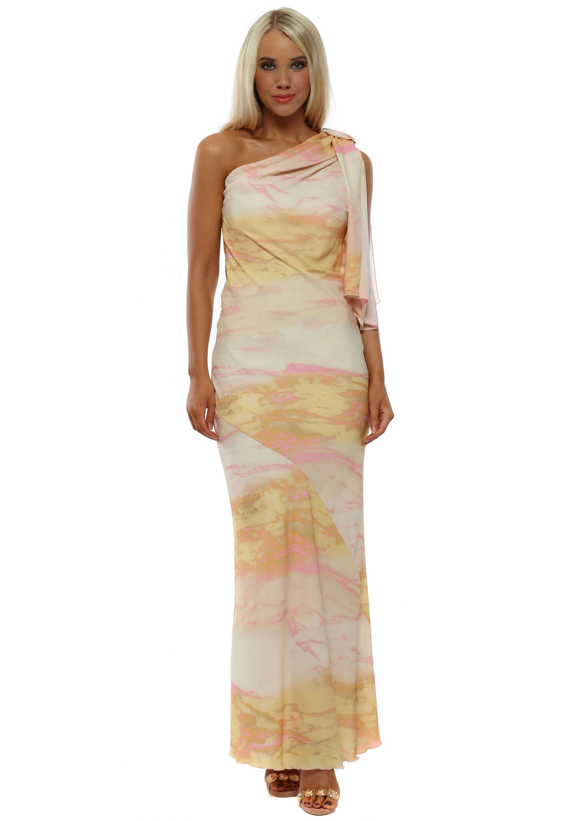 5b33c37bc4a Summer Soul One Shoulder Maxi Dress