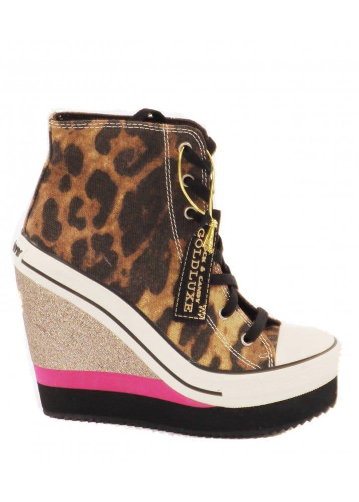 Rock \u0026 Candy Leopard Platform Wedge